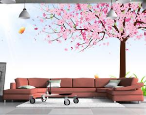 3D Grass Pink Tree 86 Wall Paper Murals Wall Print Wall Wallpaper Mural AU Kyra