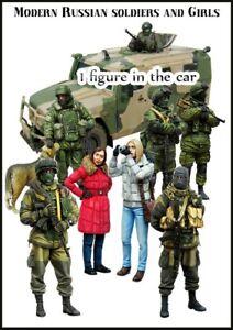 1-35-Resin-Modern-Russian-Soldiers-amp-Girls-9-figures-amp-1-dog-unpainted-unbuild