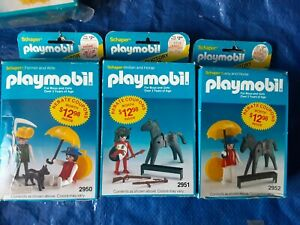 Vintage 1983 Playmobil Lot Of: 3 /  2950, 2951, 2952. COMPLETE  IN BOXES