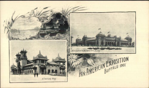 1901 Buffalo NY PanAmerican Expo Multi View Private Mailing Card #6 jrf