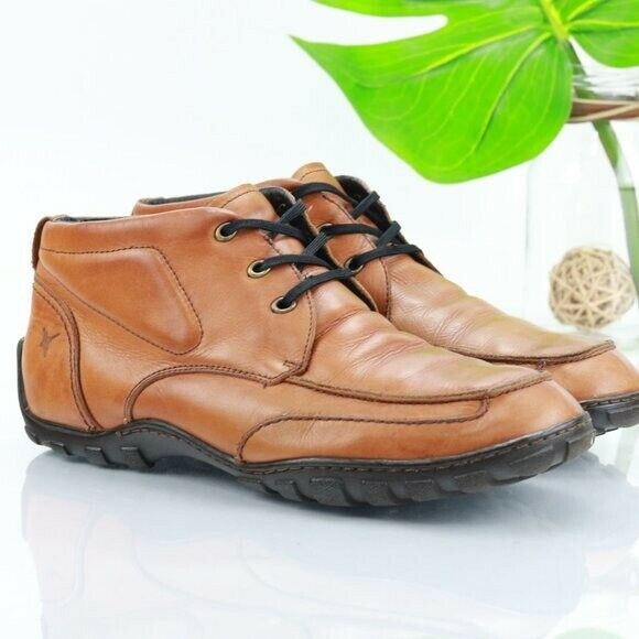 Pikolinos 42 US 8 Chukka Boot Comfort Driver Cognac Leather Brown Lace Up Men