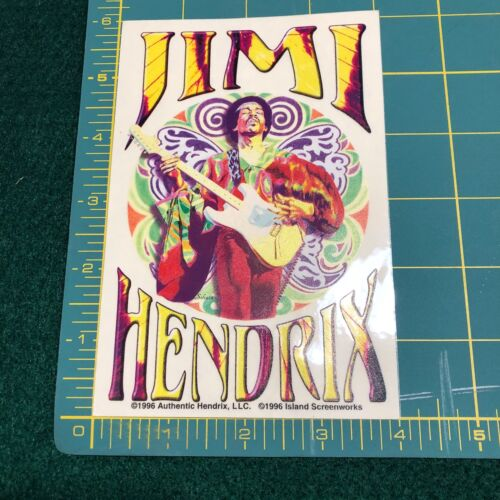 NEW Vintage Jimi Hendrix Portrait 1996 Psychedelic Lefty Window Sticker Decal