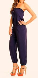 Overall Catsuit Bandeauoverall blau marine schwarz S M L XL XXL 34 36 38 40 42