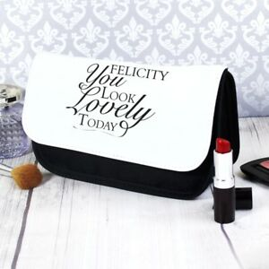 Image Is Loading Personalised Look Lovely Make Up Bag Birthday Gift