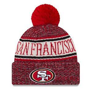 d37c49c3 Era NFL Sideline 2018 Bobble Beanie San Francisco 49ers | eBay