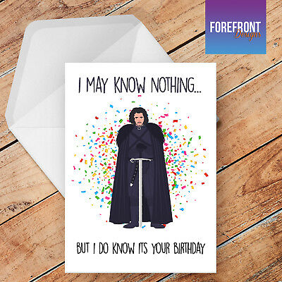 GAME OF THRONES birthday greeting card //rude//funny//card gift Personalised HODOR