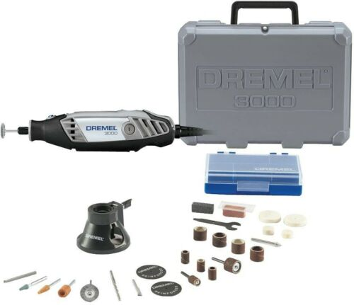 28 Accessories Tool Kit Corded Variable Speed Rotary 3000 Series 1.2 Amp 1//8 in