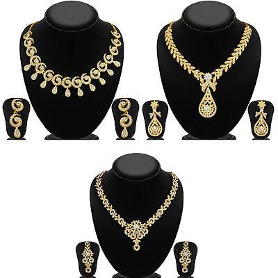 Sukkhi Glimmery 3 Piece Necklace Set Combo-262CB