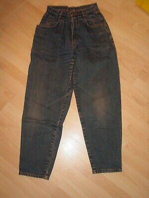 Diskret Jeans ° Original 80er ° Karottenform ° Used Look ° W 28; Gr.36/38 ° Hohe Taille