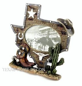 image is loading texas shaped picture frame w cowboy boots hat
