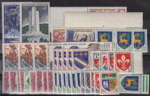 FRANKREICH-Restelot-33-meist-60er-Jahre-ca-50-postfrische-Marken-1C-181-2