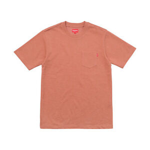 694d8154a73d Supreme Pocket Tee Heather Dark Rose Clay S/S FW17 Box Logo Yeezy M ...