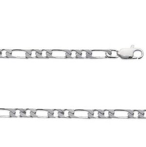 Chaine HOMME Argent FIGARO 1-3  45 cm Largeur 3 mm NEUF