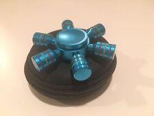 Blue 6 Stick Wheel Aluminum Fidget/ Hand Spinners. Brand New In Box.