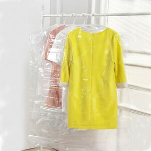 5pcs clear plastic dust proof bags clothes cover suit for Clear plastic dress shirt bags