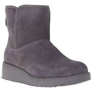 ceccb8a41a4 Details about UGG Women's Grey Suede Sheepskin Kristin Treadlite Snow  Winter Boots New in Box