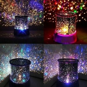 Image Is Loading Romantic LED Starry Night Sky Galaxy Projector Lamp