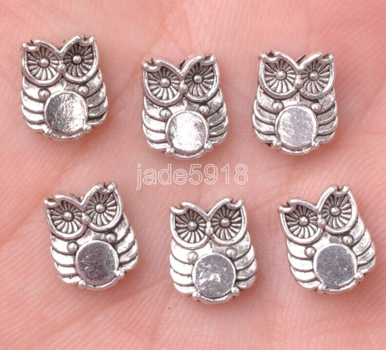 10//40//200pcs Antique Silver Beautiful Elephant Jewelry Charm Spacer Beads 13X9mm