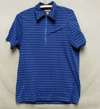 Z7860 Men's Mountain Hard Wear Blue Short Sleeve Shirt-Small
