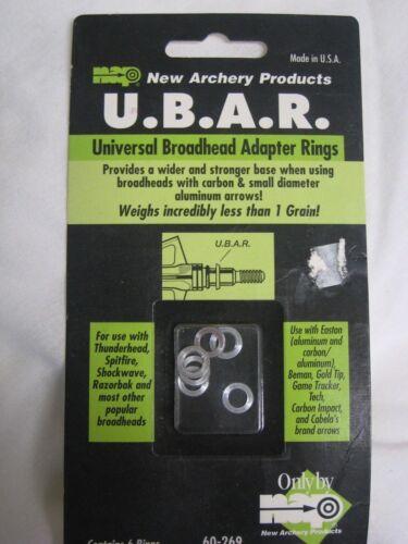 Universal Broadhead Adaptateur Anneaux pour la chasse ou cible NEW OLD STOCK NAP Tir à L/'Arc u.b.a.r