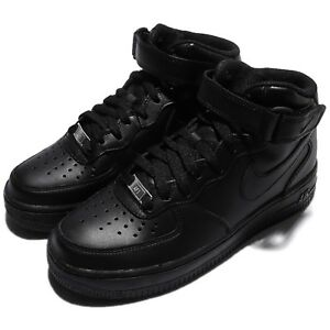 a274bc73b65c4a Wmns Nike Air Force 1 Mid 07 LE Black Out Women Shoes Sneakers AF1 ...