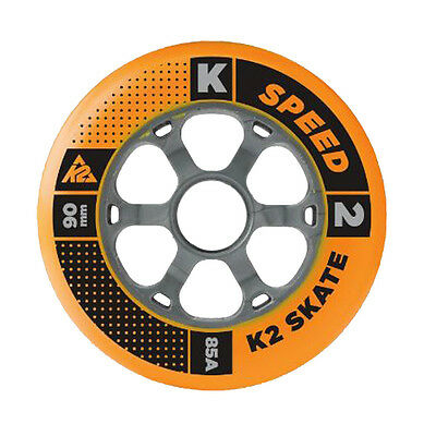K2 Inliner Rollen Set 4 Stück 90mm 85A für Inline Skates Fitness Skates Skating