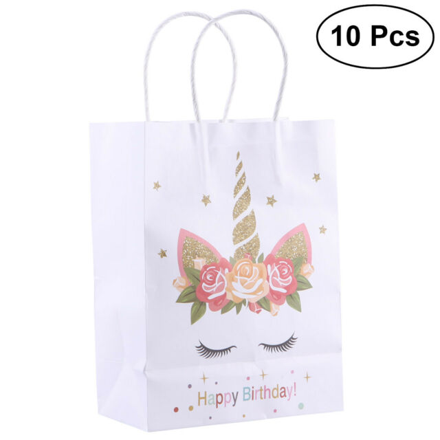610b14349f99 10Pcs Paper Bag Unicorn Adorable Storage Pouches Candy Bags Gift Bags for  Party