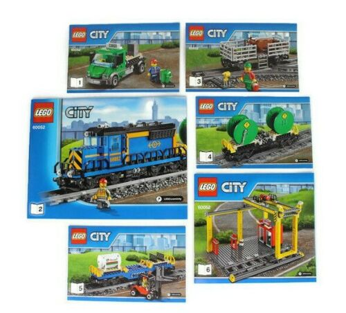 Instruction Manuals Only Lego City 60052 Cargo Train All 6 books