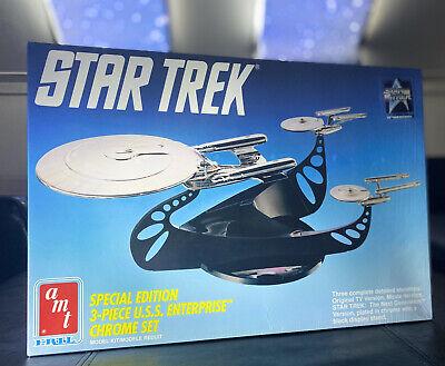 Star Trek Special Edition 3-Piece U.S.S Enterprise Chrome Set