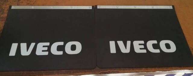 2 x Schmutzfänger 650-450 x 400 Spritzlappen Spritzschutz LKW Anhänger IVECO