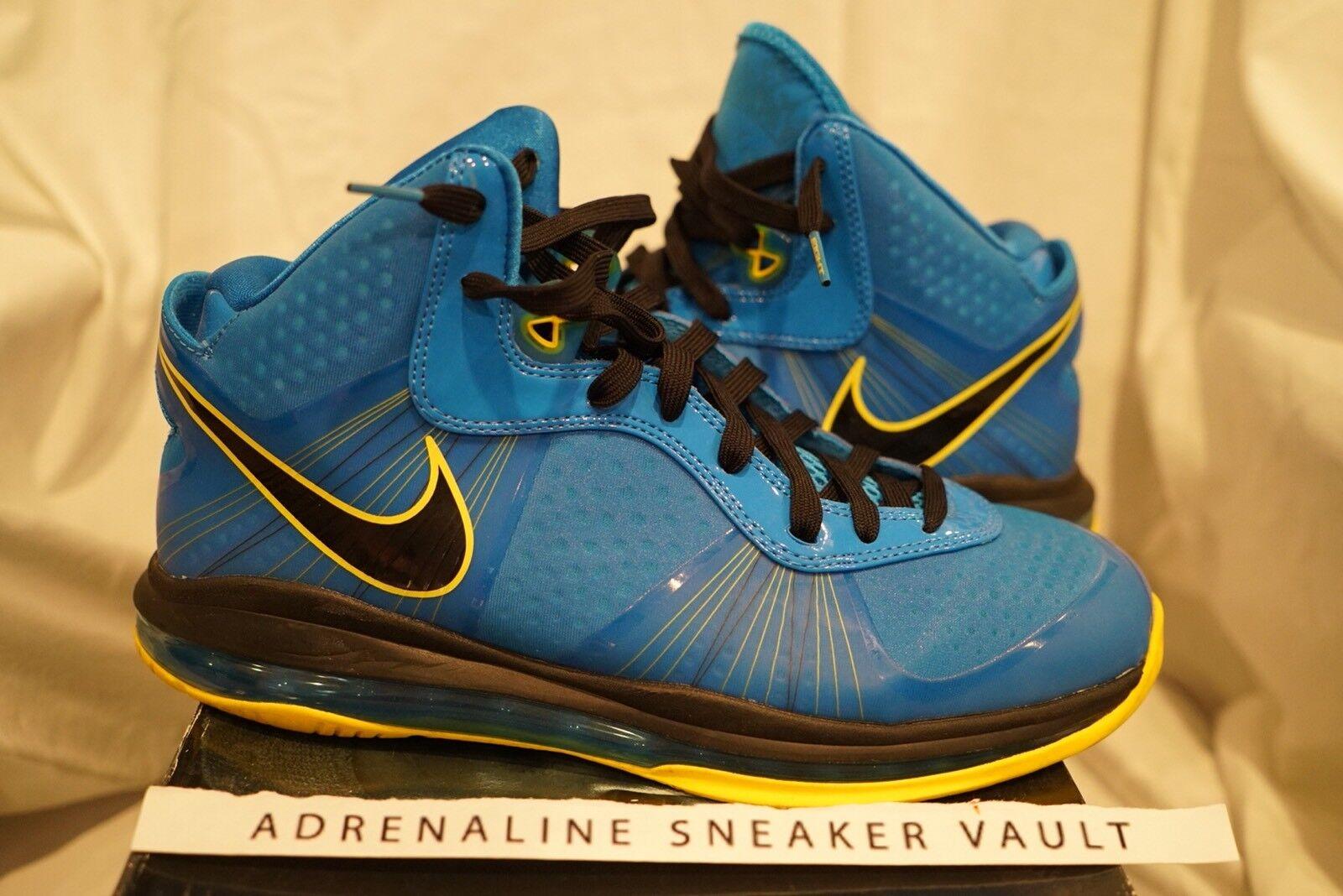 Nike lebron 8 v / 2 entourage viii 2011 foto blu e nero giallo natale bhm tour