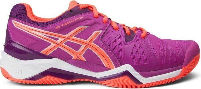 E553Y Womens Ladies ASICS Resolution 6 Clay Court Tennis shoes Trainers 6 8 9.5