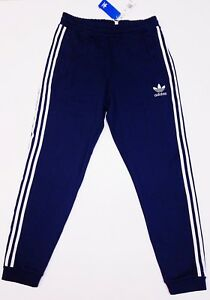 NEW-MEN-039-S-ADIDAS-ORIGINALS-TREFOIL-CUFFED-TRACK-PANTS-DN9084-NAVY-Sz-M-L-XL-2XL