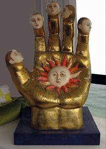 Sergio-Bustamante-034-Golden-Hand-034-Original-Artist-Proof-Signed-64