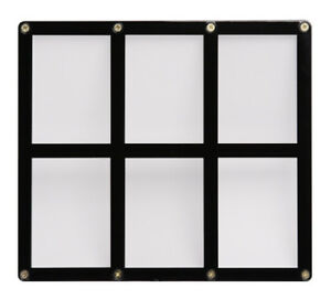 Ultra-Pro-6-Card-Black-Frame-Screwdown-Holder-for-trading-cards-display-NEW
