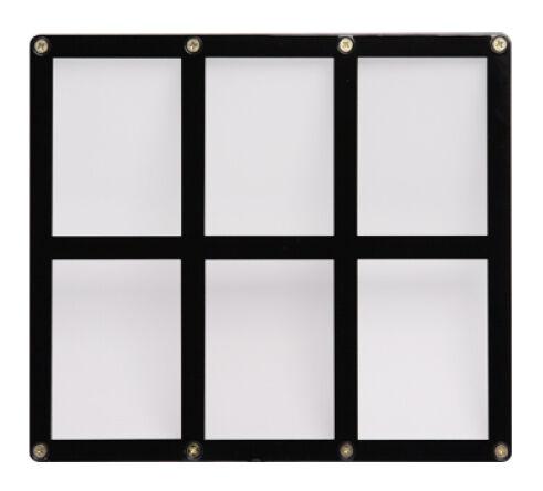Ultra Pro - 6-Card Black Frame Screwdown Holder for trading cards display NEW