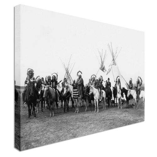 Native American indians Canvas Art Cheap Wall Print Home Interior