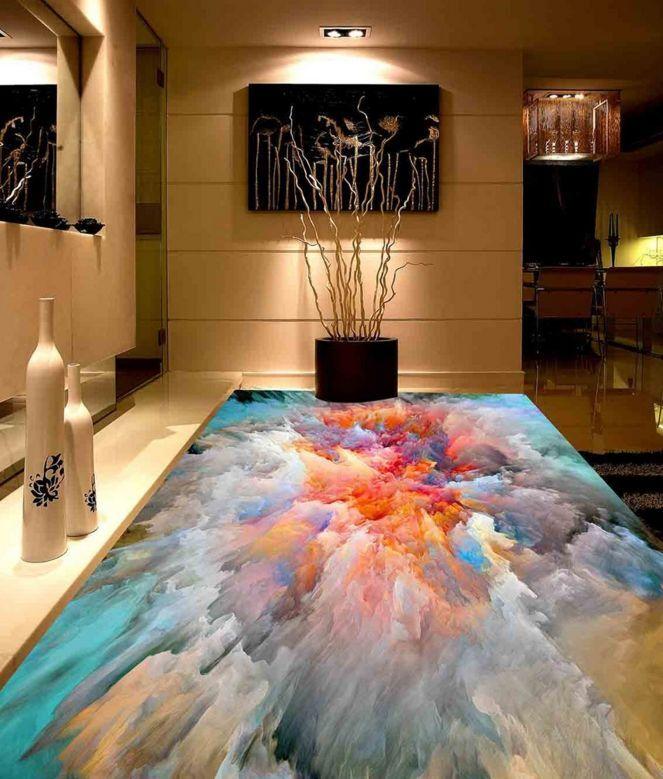 3D Farbeful Cloud Floor WallPaper Murals Wall Print Decal 5D AJ WALLPAPER