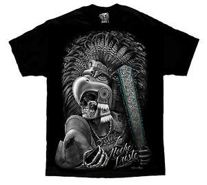 Azteca-Mayan-Warrior-Aztec-Skull-Mexico-Chicano-Art-David-Gonzales-T-Shirt