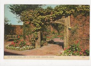 Corner Of Spanish Garden The Derry Roof Gardens Kensington UK Un Stamped Not Used Antique Vintage Original Postcard Early  Mid 1900/'s