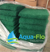 Aqua-flo Two-pack Green Pond Filter Mat/media/pad 12x12 Water Garden-skimmer