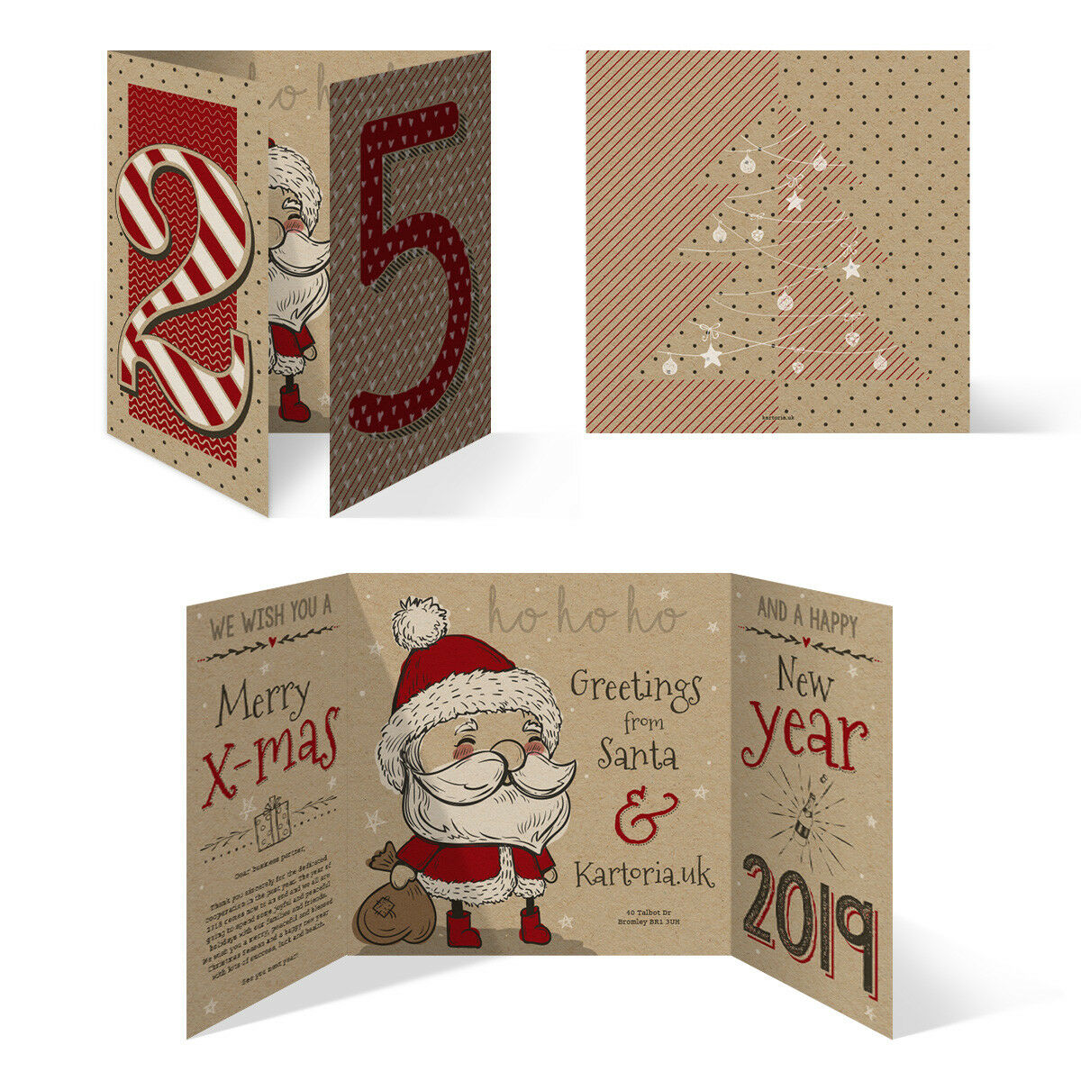 Geschaft Christmas Xmas Greeting Personalised Company Cards