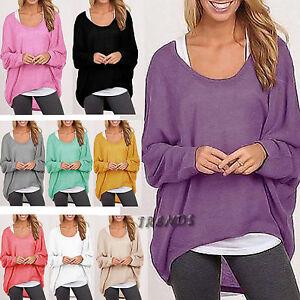 UK-Womens-Oversized-Jumper-Batwing-Pullover-Top-Winter-Sweatshirt-Ladies-6-14