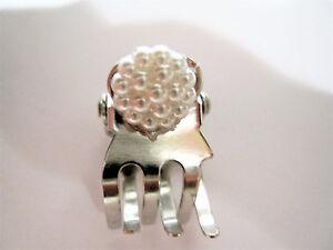 Tiny small dark silver tone metal hair claw clip
