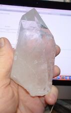 1 LARGE CLEAR QUARTZ  CRYSTAL POINT CLUSTER  GEODE  FROM BRAZIL HEALING WAND