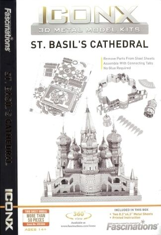 St Basil Cathedral Moscow Russia Metal Earth 3D Model Kit FASCINATIONS