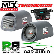 "MTX RT12PT 450W 12"" Active Amplified Sub Subwoofer Enclosure Box Car Bass Tube"