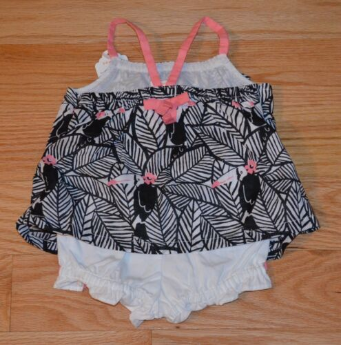 NWT Gymboree Jungle Jam Toucan Leaf Print Top Bloomer Set Outfit 2PC Baby Girl