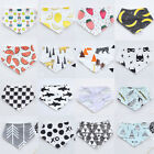 Cute Baby Boys Girls Child Saliva Towel Cotton Bandana Bibs Triangle Head Scarf