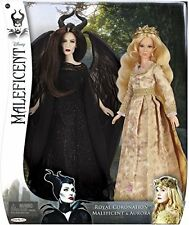 MALEFICENT and AURORA Disney Royal Coronation Doll 2-pack - New!